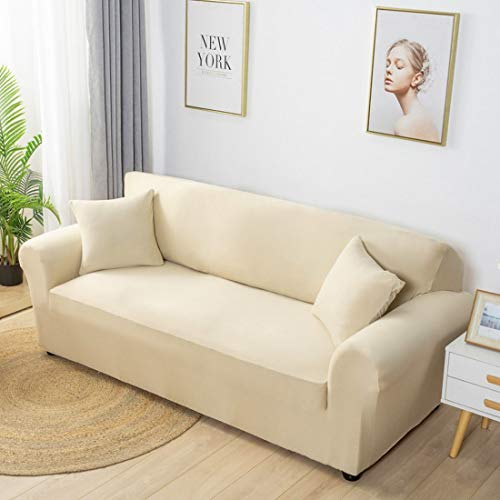 Verve Jelly Sofabezüge für Wohnzimmer High Stretch Couch Sofa Protector Cover, weiche Dicke rutschfeste waschbare Sofa Slipcover Möbel Protector mit elastischen Boden