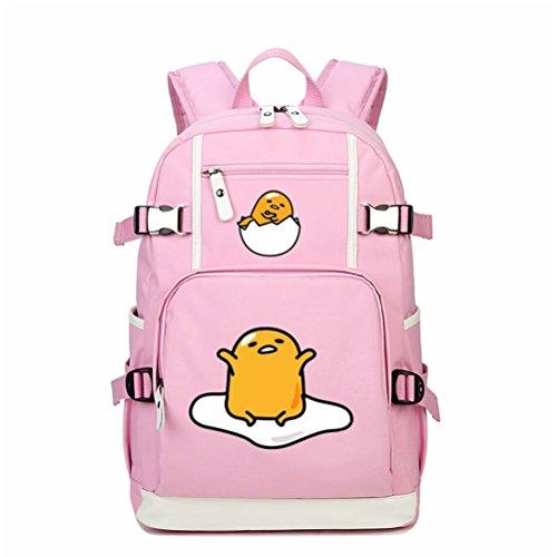 Siawasey Cute Naughty Gudetama Lazy Egg Backpack Shoulder Bag School Laptop Bag Bookbag (Pink1)