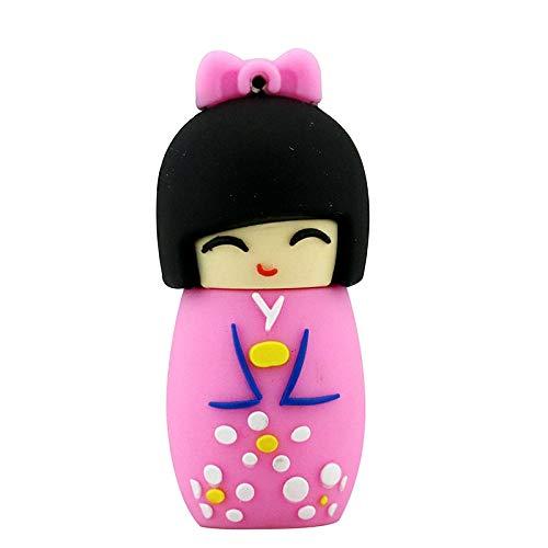 64 GB USB 2.0 Flashdrive Novità Carino rosa giapponese bambola Cartoon Flash Memory Stick Pen Drive Pendrive