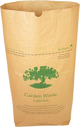 Alina 10 x 75L Compostable Paper Garden Sack/Bin Liner/Biodegradable Brown 75 Litre Paper Compost Sack Composting Guide (10 sacks)