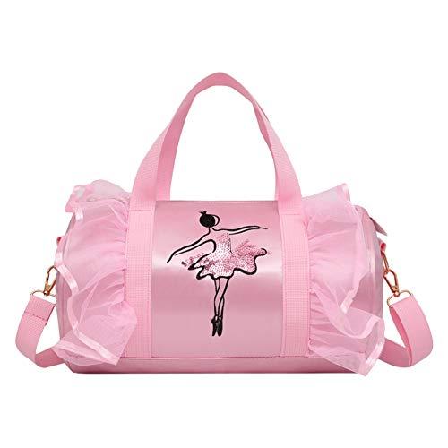 Meijunter Tout-Petit Ballet Bag - Ballerina Duffle Bag Dancing Shoulder Bag Portable Porter Sac à Main Casual Sac à Dos Étudiant Pochette de Voyage pour Ballet Chaussures Justaucorps