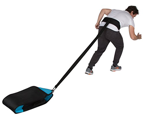 Trademark Innovations Pull Sled Trainer Bag with Adjustable Belt for Sprinters