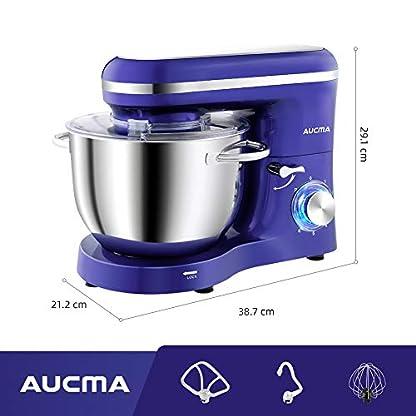 Aucma-Kuechenmaschine-Knetmaschine-1400W-62L-Reduzierte-Geraeusche-Knetmaschine-mit-Ruehrbesen-Knethaken-Schlagbesen-und-Spritzschutz-6-Geschwindigkeit-mit-Edelstahlschuessel-Teigmaschin