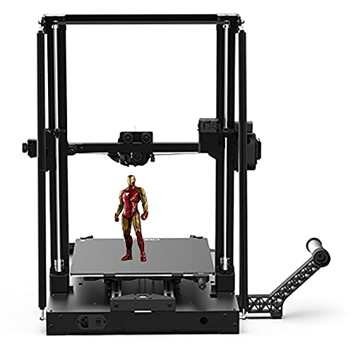 YILUFA Creality Cr-10 Smart 3D Printer Using Double Z-axis Semi-assembly, Carbon Crystal Silicon Glass Printing Platform, 11.81' L X 11.81' W X 15.75' H,