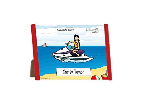 Amazon Com Printedperfection Com Personalized Ntt Cartoon Side Slide Frame Wave Runner Jet Ski Rider Female Posters Prints