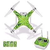 Accesorios para drones Green Plant Etiqueta impermeable de PVC para la piel para DJI Phantom 3 Película protectora para el cuerpo del dron + Cubierta del control remoto [J30020] Accesorios para cuadri