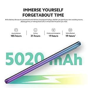 """Xiaomi Redmi 9 Teléfono 4GB RAM + 64GB ROM, 6.53"""" FHD+ Dot Drop Pantalla, Media tek Helio G80 Octa-Core Procesador, 8MP Frontal & 13MP+8MP+5MP+2MP AI Quad Cámara Trasera Versión Global (Morado)"""