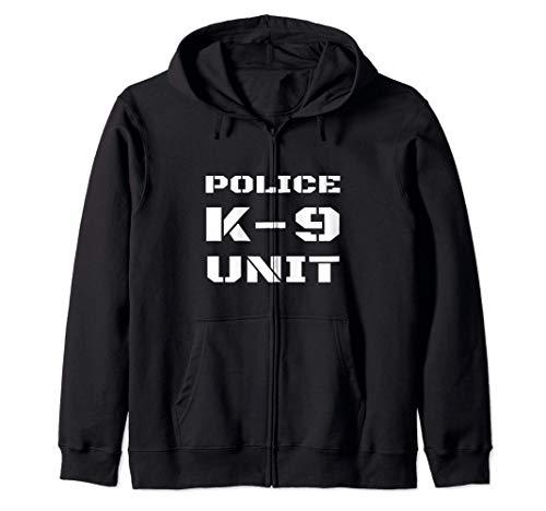 Police K-9 Unit Officer K9 Canine Dog Handler Trainer Team Zip Hoodie