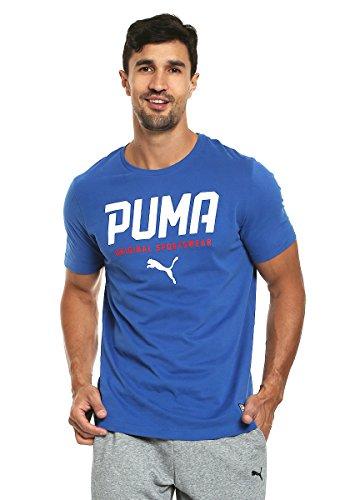 PUMA Style Tec Graphic Tee, Maglietta Uomo, True Blue, XL