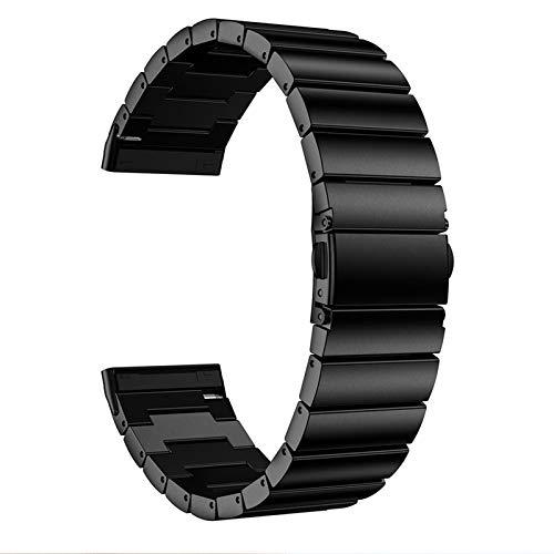 WE-WHLL Correa de Reloj de Pulsera de Acero Inoxidable Correa de muñeca para -Fitbit Versa3 / Sense Reemplazo de Accesorios de Reloj Inteligente-C