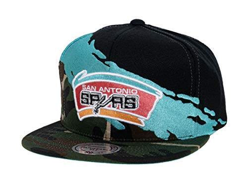 Mitchell & Ness Gorra de paintbrush de la NBA San Antonio Spurs
