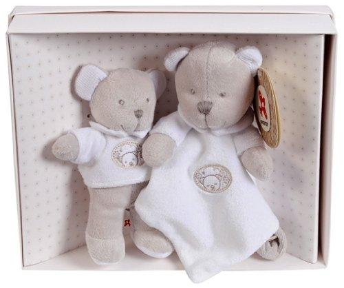 Simba 6305790910 - Nicotoy Teddybär und Schmusetuch, Geschenkbox