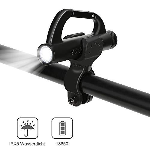 Lukasa LED Taschenlampe, 500 Lumen Extrem Hell Tragbare Taschenlampe, 5 Modi Handlampe Wasserdicht für Outdoor Camping Wandern