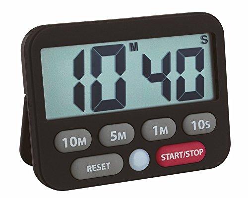 TFA Dostmann Temporizador Digital y cronómetro, Negro, 9 x