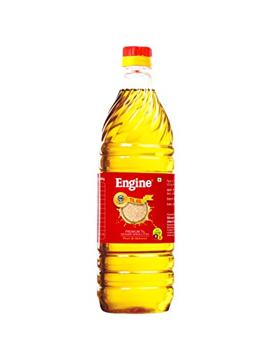 Engine Brand Single Pressed Seeds Til(Sesame) Oil - 1 Liter Bottle