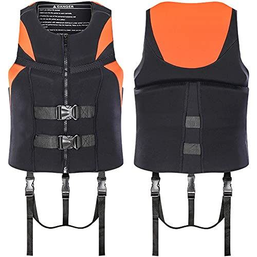 Chaleco Salvavidas, para Niño Y Niña Homologado para Deporte Acuático Pesca Kayak Rafting Motos De Agua Barco Infantil, Chaleco Salvavidas De Natación Pesca/Orange/XL