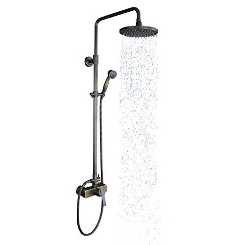 lovedima latón envejecido expuesta ducha y alcachofa Paquete 8'sistema de ducha con efecto lluvia