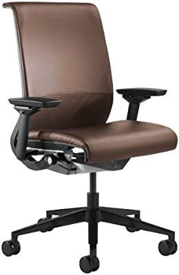 Steelcase Think Leather Chair, Mahogany