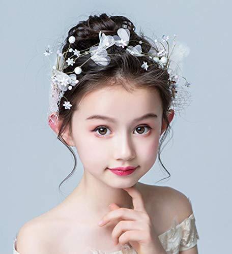 Meisjes Hoofdtooi Haarspeld Kind Parel Haaraccessoires Baby Hoofd Bloem Super Fee Side Haarspeld Verjaardag Prestaties Haaraccessoires