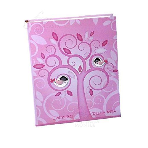 Album voor fotoalbum, roze boom, Vita Vita toepassingen, zilveren geschenk doop Thilia 0427667