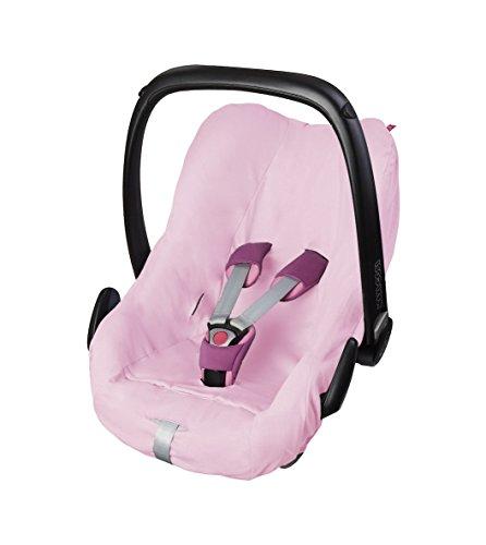 ByBoom - Universal Sommerbezug, Schonbezug aus 100% Baumwolle, für Babyschale, Autositz, z.B. Maxi Cosi CabrioFix, City, Pebble; Designed in Germany, MADE IN EU, Farbe:Rosa