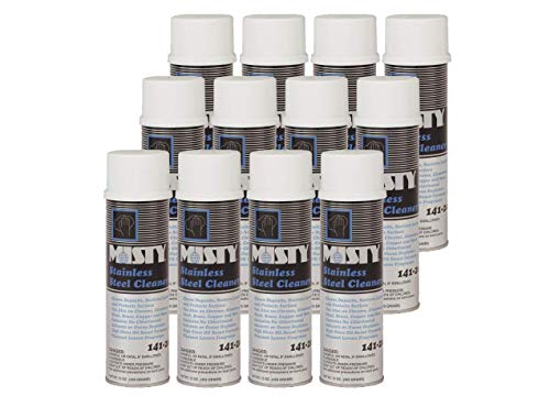 Misty Heavy-Duty Stainless Steel Cleaner 15 Ounce Aero 1001541 (Case of 12) Pro Trusted Clean