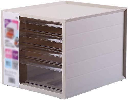 MTYLX Gabinete de Archivo/Bastidor, Gabinete de Filificación de 4 Capas de Gabinete Bajo Tipo Cajón de Escritorio Archivo de Escritorio Archivo de Alenamiento Caja de Acabado de Plástico Puede Pone