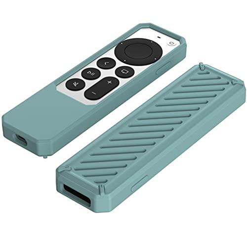 Akemaio Funda protectora para mando a distancia, de silicona a prueba de golpes, compatible con Apple TV 4K 2021, a prueba de caídas y polvo, peso ligero