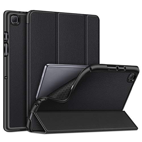 FINTIE Slim Case for Samsung Galaxy Tab A7 10.4'' 2020 Model SM-T500(Wi-Fi) SM-T505(LTE), Soft TPU Smart Stand Back Cover with Auto Wake/Sleep Feature, Black
