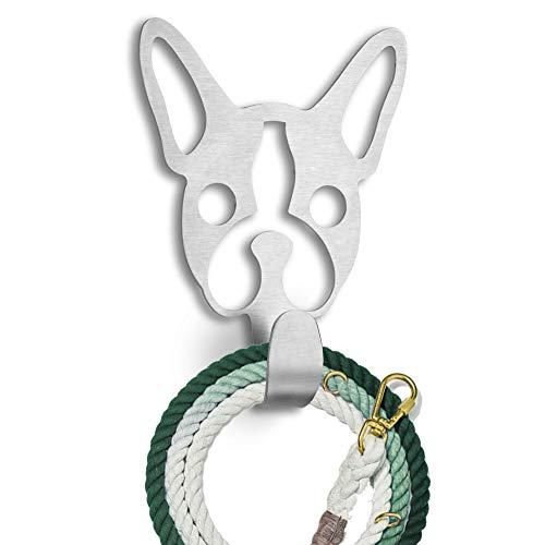 Dog Leash Hook for Wall: French Bulldog Wall Mounted Key Holder for Wall Decorative - Dog Leash Holder - Decorative Key Hooks for Wall +3M Stickers Included