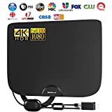 ABLEGRID TV Antenna, Indoor Amplified HD TV Antenna Up to 180 Miles Range, Support 4K 1080P HD VHF UHF for Local Channels,Amplifier Signal Booster and 18 Ft Coax Cable