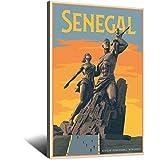 Vintage-Reise-Poster Senegal-Afrika, Leinwand-Kunst,