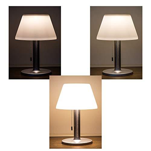 LED Solar Tischleuchte ultra hell 3 Leucht Modi Solar Lampe