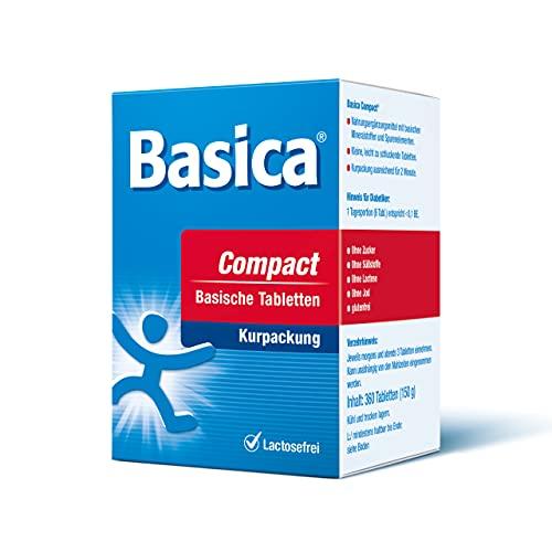 Basica Compact, praktische basische Tabletten, für Diät, Basenfasten und Detox, vegan, laktosefrei, 120 Tabletten