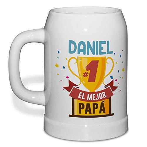 Jarra de Cerveza Personalizada con Nombre. Regalos Personalizados Dia del Padre. 500ml. Varios diseños a Elegir. Copa Papá