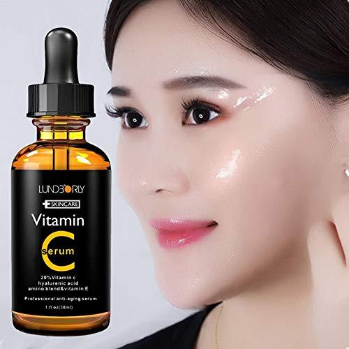 La esencia hidratante es rica en vitamina C aclarante antiedad de la vitamina E de vitamina E.