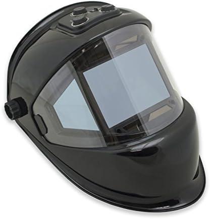 TGR Panoramic 180 View Solar Powered Auto Darkening Welding Helmet True Color BLACK product image