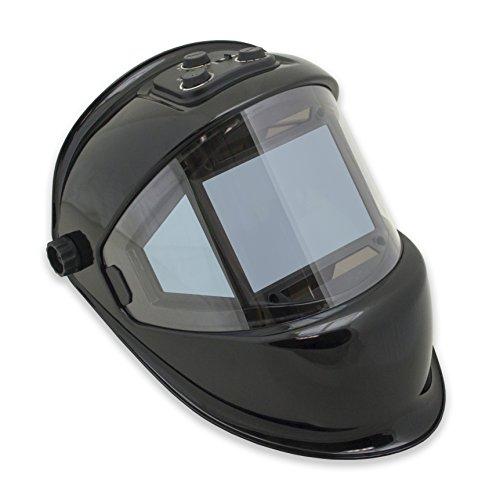 TGR Panoramic 180 View Solar Powered Auto Darkening Welding Helmet - True Color (BLACK)