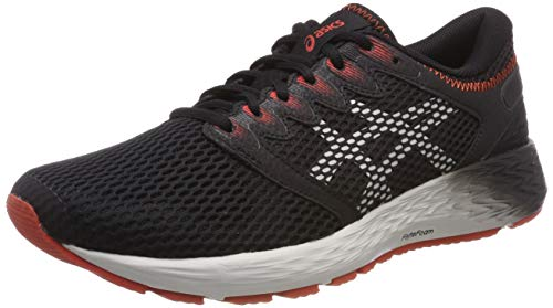 Asics Roadhawk FF 2, Zapatillas de Running Hombre, Negro (Black/Glacier Grey 002), 42 EU