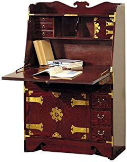 ORIENTAL Furniture Asian Furniture, 52-Inch Japanese Secretary Desk