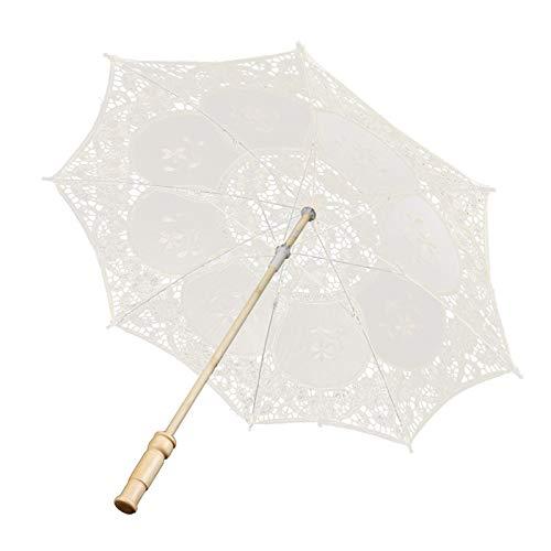 OhhGo West Style - Sombrilla de encaje nupcial para banquetes y escenarios de fotografía