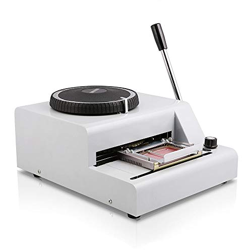 InLoveArts halfautomatisch blad embosser typeplaatje 2~4 tekens per seconde metaal embosser blad embosser embosser machine met 4 mm aluminium plaat metaal tagplaat dog tag-printer 72 Zeichen