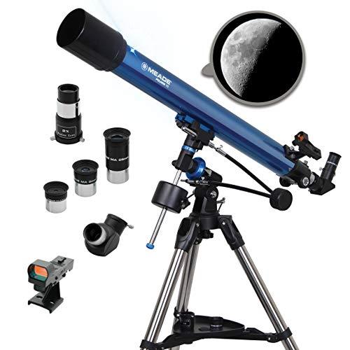 Meade Instruments Polaris 90mm Refractor Azul - Telescopio