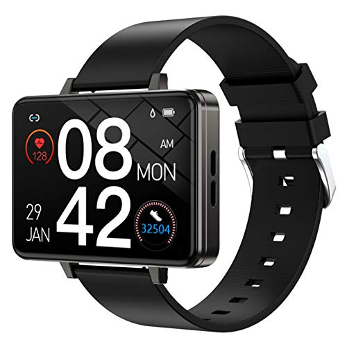 YZPFSD Smart Watch Phone 2.0 Inch TFT Big-Screen Bracelet Heart Rate Sleep Blood Pressure Monitor Female Physiological Reminder MP3 Music Player Long Standby Fitness Tracker,Black