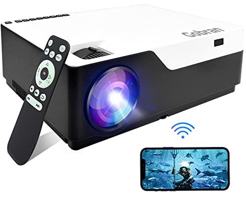 Beamer WiFi Native 1080P 7500 Lumen Support 4K Full HD kabellos Bildschirm Teilen, Gobran WLAN Projektor Heimkino Professionelles, Support HDMI/USB/TV Stick/ Xbox/Laptop/iOS/Android Smartphone