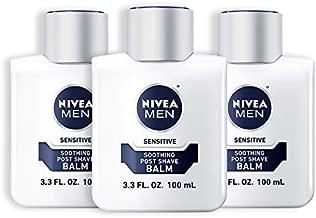 NIVEA Men Sensitive Post Shave Balm - Soothes and Moisturizes Skin After Shaving - 3.3 fl. oz. (Pack of 3)