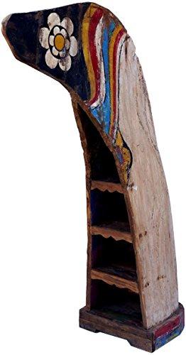 Guru-Shop Bootplank, Wijnrek, Boekenkast van Oude Scheepsromp - Boot 19, Veelkleurig, 202x58x150 cm, Boeken-Wandplanken