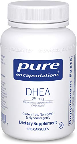 Pure Encapsulations DHEA 25 mg | Supplement for Immune Support, Fat Burning, Hormone Balance, and Emotional Wellness* | 180 Capsules