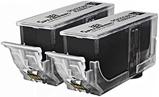 Speedy Inks Compatible Ink Cartridge Replacement with Chip for Canon PGI-225 / PGI225 (Pigment Black, 2-Pack)
