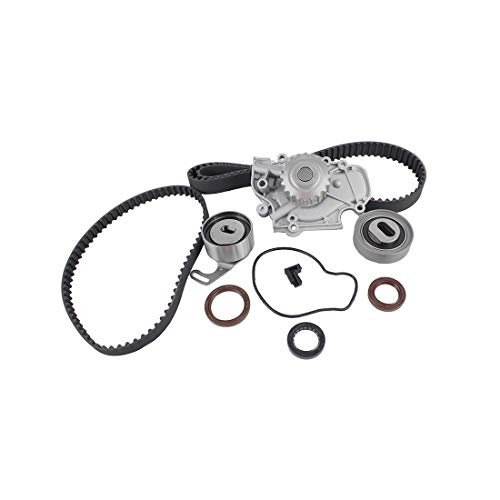 Engine Timing Belt Kit,ECCPP Automotive Replacement Timing Parts Set with Water Pump for 1993-2001 Honda Prelude 2.2L L4 DOHC